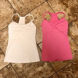 Lucy activewear braided tank lot (2) Sz small